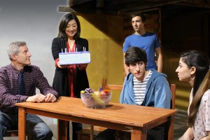 "(From Left to Right) Rich Goldstein (White Plains), Miran Robarts (Mamaroneck), Coleman Cummings (Manhattan), Alex Martinez ( Briarcliff Manor), and Katie Sondermeyer (Bloomingdale) star in ""Next To Normal"" running May 13 to June 11 at the Elmwood Playhouse in Nyack NY 845-353-1313 [photo by Omar Kozarsky]"