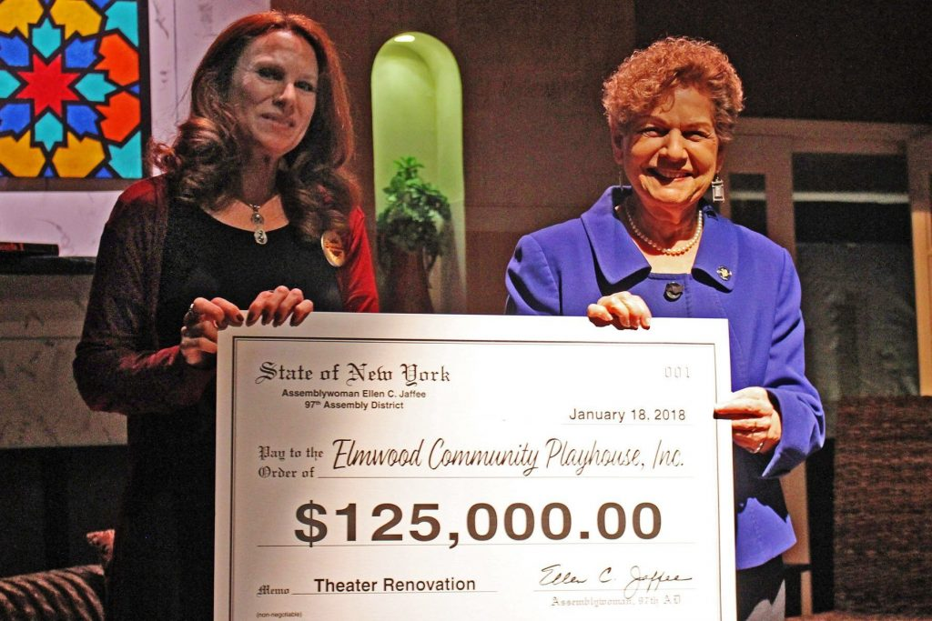 Assemblywoman Jaffee Presents $125,000 to Elmwood Community Playhouse